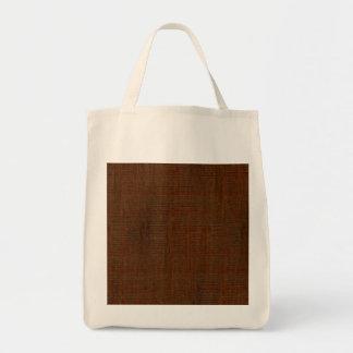 Rustic Bamboo Wood Grain Texture Look Grocery Tote Bag
