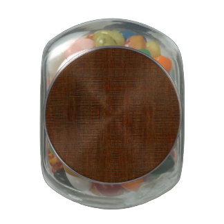 Rustic Bamboo Wood Grain Texture Look Jelly Belly Candy Jars