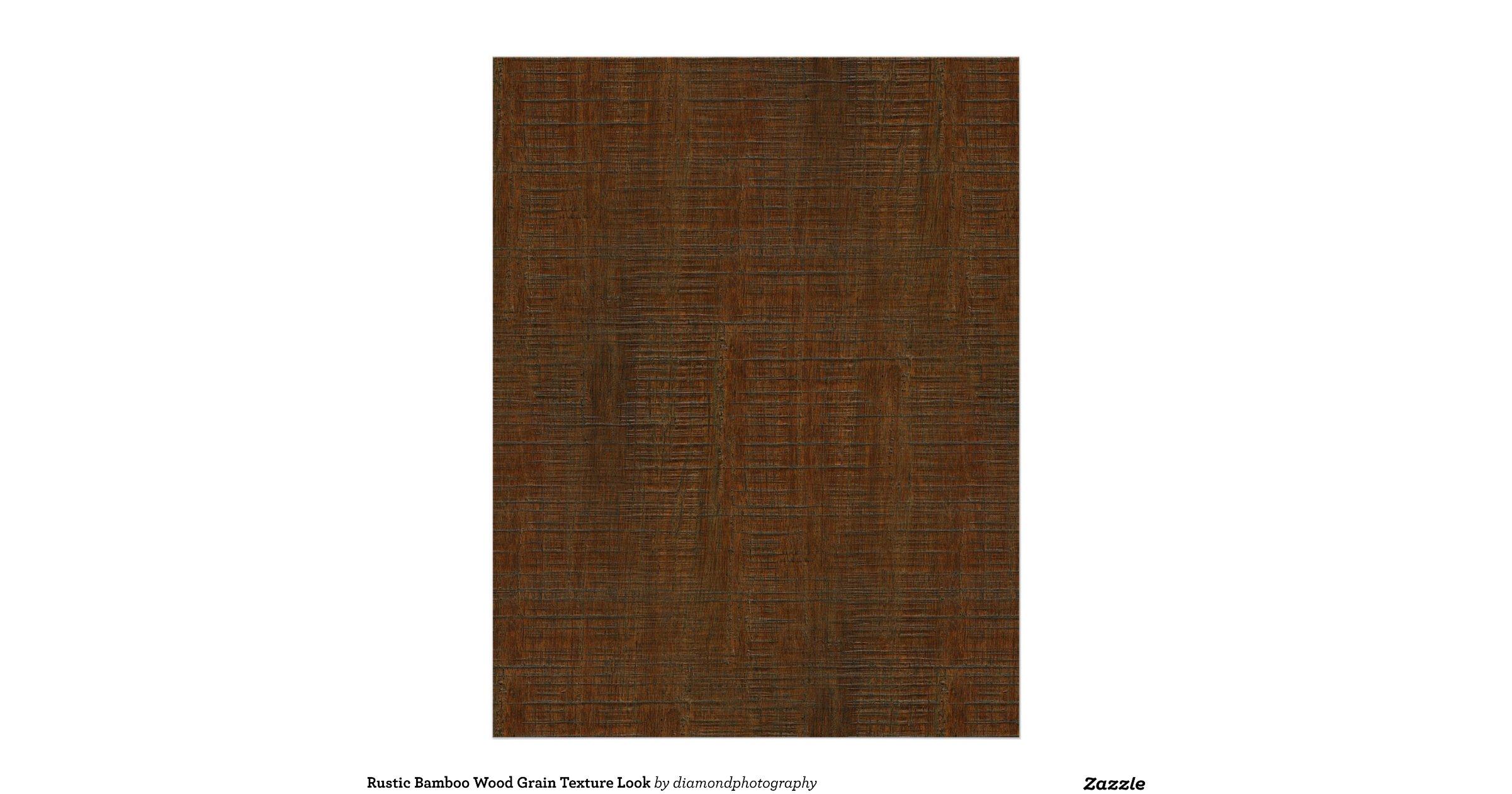 rustic bamboo wood grain texture look letterhead