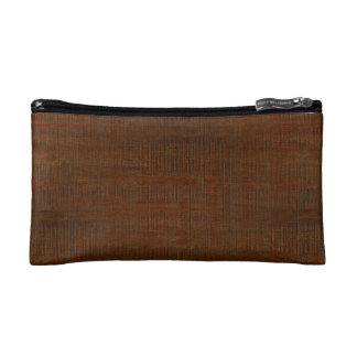 Rustic Bamboo Wood Grain Texture Look Makeup Bag