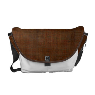 Rustic Bamboo Wood Grain Texture Look Messenger Bag