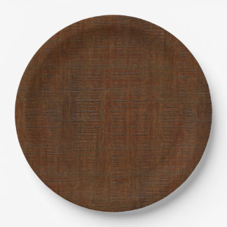 Rustic Bamboo Wood Grain Texture Look Paper Plate