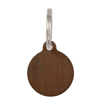 Rustic Bamboo Wood Grain Texture Look Pet ID Tag