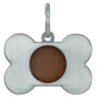 Rustic Bamboo Wood Grain Texture Look Pet Name Tag
