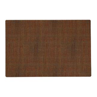 Rustic Bamboo Wood Grain Texture Look Placemat