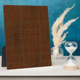 Rustic Bamboo Wood Grain Texture Look Photo Plaques