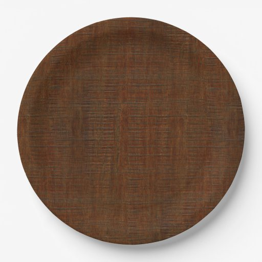 Rustic Bamboo Wood Grain Texture Look 9 Inch Paper Plate  sc 1 st  Castrophotos : rustic paper plates - pezcame.com