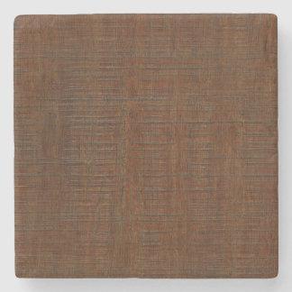 Rustic Bamboo Wood Grain Texture Look Stone Coaster