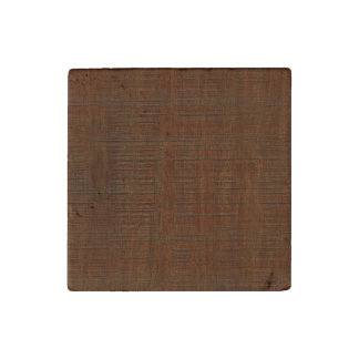 Rustic Bamboo Wood Grain Texture Look Stone Magnet