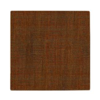 Rustic Bamboo Wood Grain Texture Look Wooden Coaster