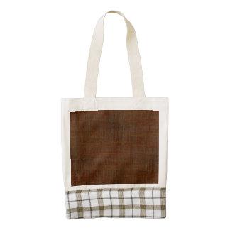 Rustic Bamboo Wood Grain Texture Look Zazzle HEART Tote Bag