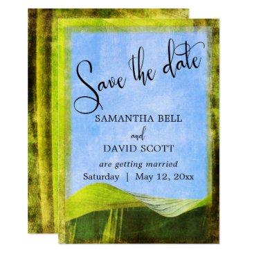 Beach Themed Rustic Banana Leaf Boho Destination Save the Date Card