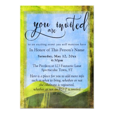 Beach Themed Rustic Banana Leaf Boho General Party & Event Card