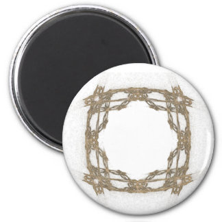 Rustic Barbed Wire Look Fractal Art Magnet