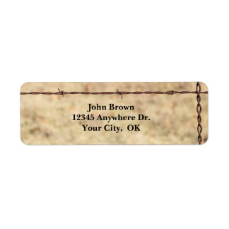 Rustic Barbed Wire Return Address Labels
