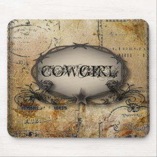 rustic barbed wire western country cowboy wedding mouse pad