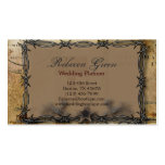 Rustic barbed wire Western Country fashion Business Card Template