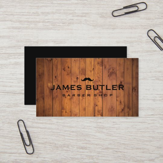 Rustic barber shop wood business card zazzle rustic barber shop wood business card reheart Image collections