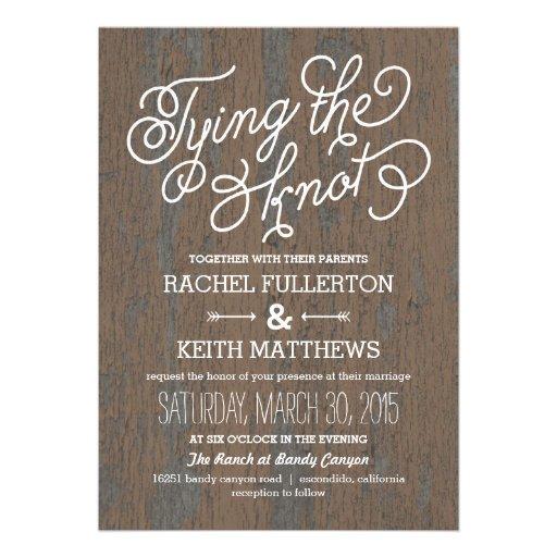 Rustic Bark Wedding Invitations