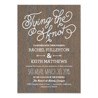 Rustic Bark Wedding Invitations
