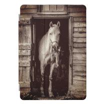 Rustic Barn   Beautiful Horses Brown iPad Pro Cover