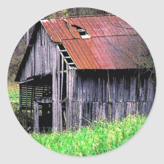 Rustic Barn Classic Round Sticker