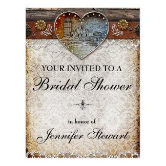 Rustic Barn Country Bridal Shower Postcard