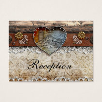 Rustic Barn Country Wedding Reception Cards