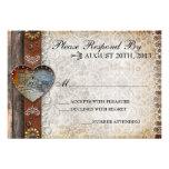 Rustic Barn Country Wedding RSVP Invitation