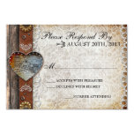Rustic Barn Country Wedding RSVP Invitation