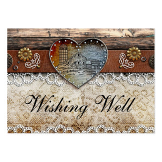 Rustic Barn Country Wedding Wishing Well Cards Large Business Cards (Pack Of 100)