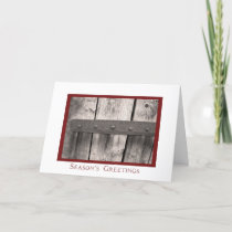 Rustic Barn Door Season's Greetings Card