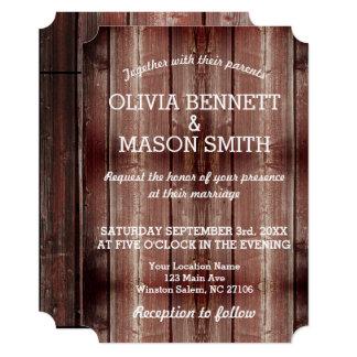 Rustic Barn Door textured Wedding Card