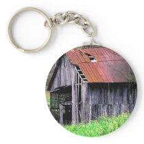 Rustic Barn Keychain