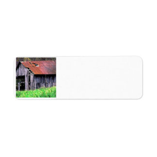 Rustic Barn Custom Return Address Labels