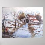 Rustic Barn Landscape Print