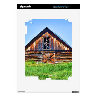 Rustic Barn on Cattle Ranch Art iPad 2 Decals