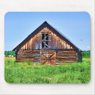 Rustic Barn on Cattle Ranch Art Mouse Pad