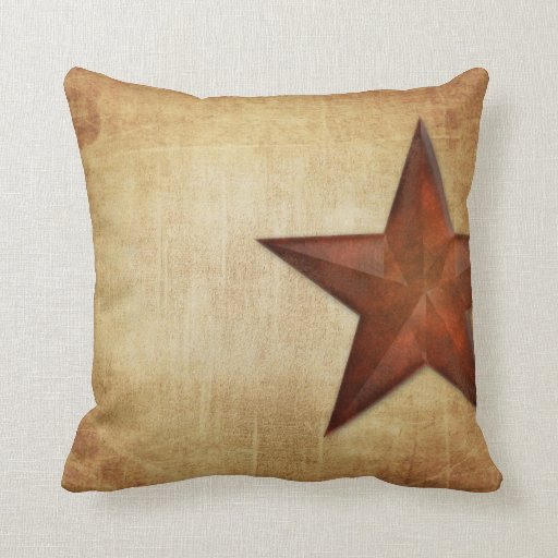 Rustic Barn Star Throw Pillow Zazzle