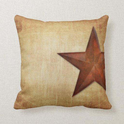Rustic Barn Star Throw Pillows Zazzle