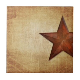 Rustic Barn Star Tile