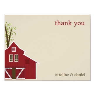 Rustic Barn Thank You Card Personalized Invites