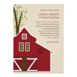 Rustic Barn Wedding Invitation Custom Announcements
