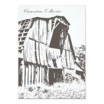 "Rustic Barn Wedding Invitation - Dark Brown 5"" X 7"" Invitation Card"