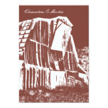 Rustic Barn Wedding Invitation - Red