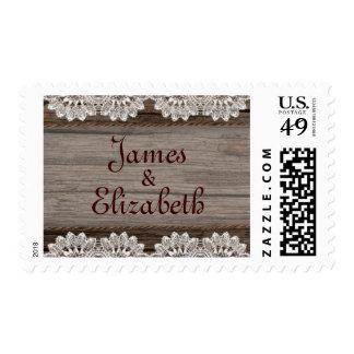 Rustic Barn Wedding Stamp