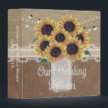 """Rustic Barn Wedding Sunflower Mason Jar Album 3 Ring Binder<br><div class=""""desc"""">Rustic Barn Wedding Sunflower Mason Jar Album This is a beautiful custom Rustic Country Barn Wedding Sunflower Mason Jar design that&#39;s perfect for your rustic wedding. For further customization, please click the &quot;Customize it&quot; button and use our design tool to modify this template. All text style, colors, sizes can be...</div>"""