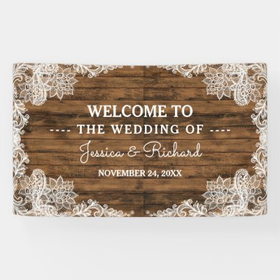 Cowboy Boots Sunflower And Lace Western Wedding Banner