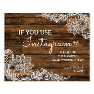 Rustic Barn Wood and Lace Wedding Sign
