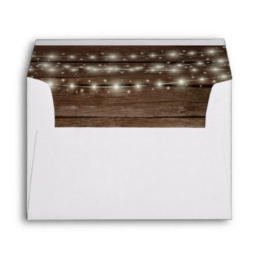Beach Themed Rustic Barn Wood and Lights Envelope